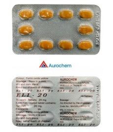Tadalafil  ELI-20mg. N10. AUROCHEM